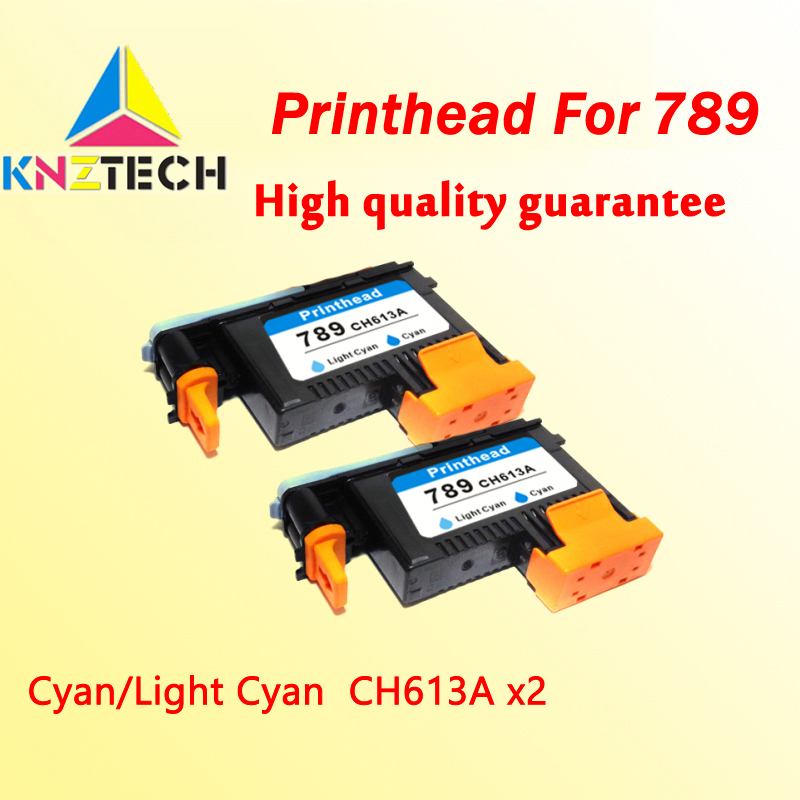 2x <font><b>printhead</b></font> compatible for hp789 CH612A Cyan Light Cyan replacement compatible for <font><b>hp</b></font> 789 <font><b>L25500</b></font> printer image