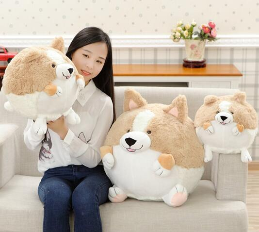 ФОТО 50cm Short-legged dog doll cute spherical plush toys high quality  1PCS Stuffed Animal Doll For gift