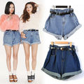 New Fashion Sexy Women High Waisted Oversize Crimping Boyfriend Jeans Shorts