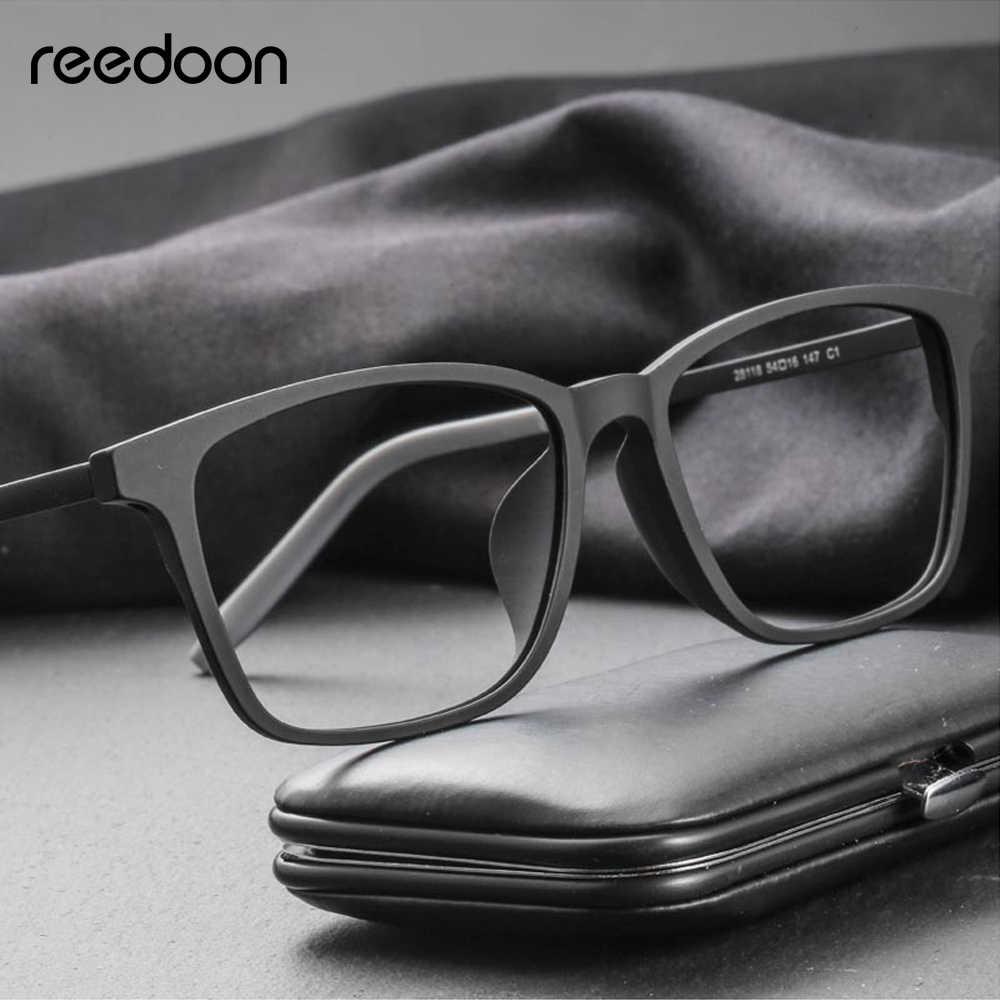 2adad08ebe Reedoon Optical Eye Glasses Frame Ultralight Square Prescription Eyeglasses  Plastic Titanium TR90 Frame Clear Lens For