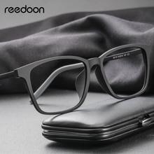 цены на Reedoon Optical Eye Glasses Frame Ultralight Square Prescription Eyeglasses Plastic Titanium TR90 Frame Clear Lens For Men Women в интернет-магазинах