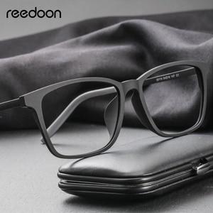 Image 1 - Reedoon Optical Eye Glasses Frame Ultralight Square Prescription Eyeglasses Plastic Titanium TR90 Frame Clear Lens For Men Women