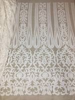 sequin fabric JL246# A white sequined mesh fabric of African cloth and French cloth used for wedding party dresses