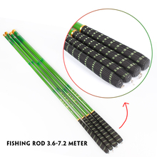 Goture 3.6 4.5 5.4 6.3Meters Green Hand Pole Streams Pole Carbon Stream Fishing Rod Ultra-light Ultrafine