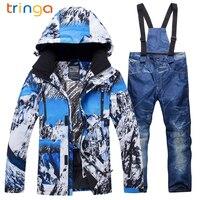 TRINGA Brands Ski Suit Men 2018 New XR Windproof Waterproof Thicken Male Clothes Coat Trousers Pants Winter Ski Snowboard Jacket