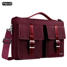 MOSISO محمول حقيبة كتف 13.3 15.6 بوصة مفكرة ماء شنطة لحمل macbook الهواء برو 13 15 الكمبيوتر حقيبة يد رسول حقيبة