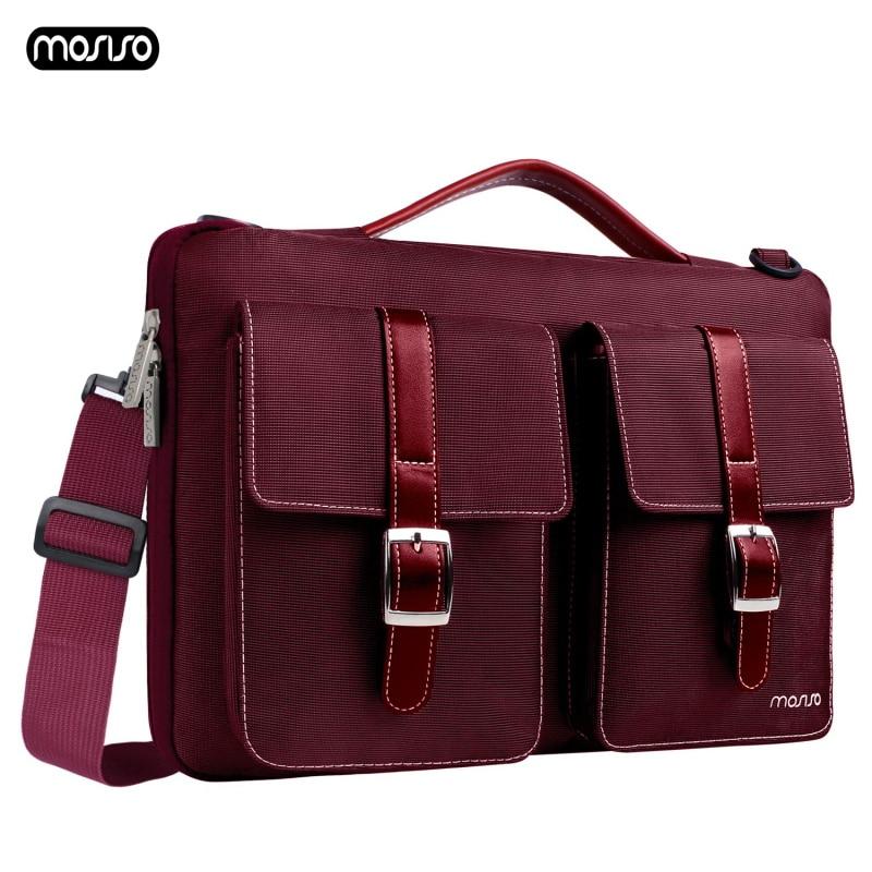 MOSISO сумка для ноутбука 13,3 15,6 дюймов непромокаемая сумка для ноутбука Macbook Air Pro 13 15 Компьютерная сумка портфель-in Сумки и чехлы для ноутбука from Компьютер и офис