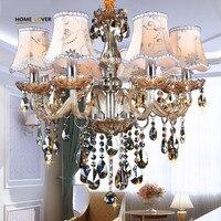 Modern Chandelier Lighting K9 Lustres De Cristal Moderne Lustre For Home Lighting Bedroom Kitchen Dining Crystal