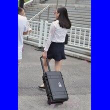 Чехол на колесиках ударопрочный защитный чехол водонепроницаемый чехол для камеры коробка для фотосъемки коробка для инструментов с комбинированной подкладкой