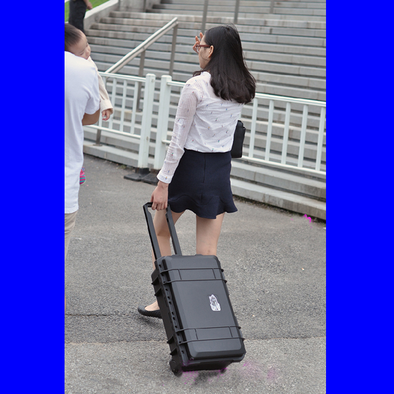 trolleykoffer gereedschapskist slagvaste beschermhoes waterdichte camerakoffer Fotodoos Instrumentendoos met gecombineerde voering