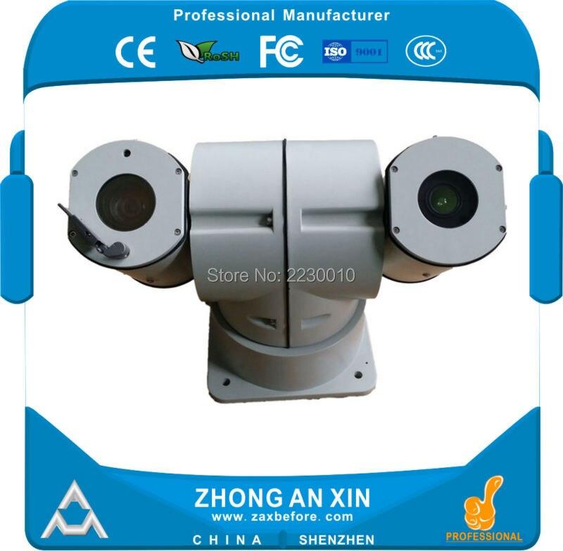 Высота скорости интеллектуальная инфра обнаружения диапазон 430 ~ 1100 м открытый термальный изображения камеры ptz телеметрией зум камеры