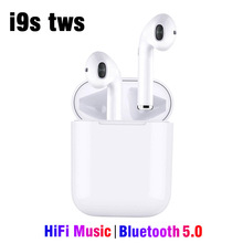 i9s tws Bluetooth Headset Wireless Earphones Handsfree Earphone Auto Pair HiFi Music Mini In Ear Earbuds PK i10 i11 i12 i30