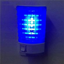 LED Mosquito Killer Lamp Light EU Plug  Insect Repellent Flies Summer Trap