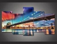 HD In Thành Phố New York Cầu Sơn trẻ em phòng decor in áp phích ảnh canvas Miễn Phí vận chuyển sơn