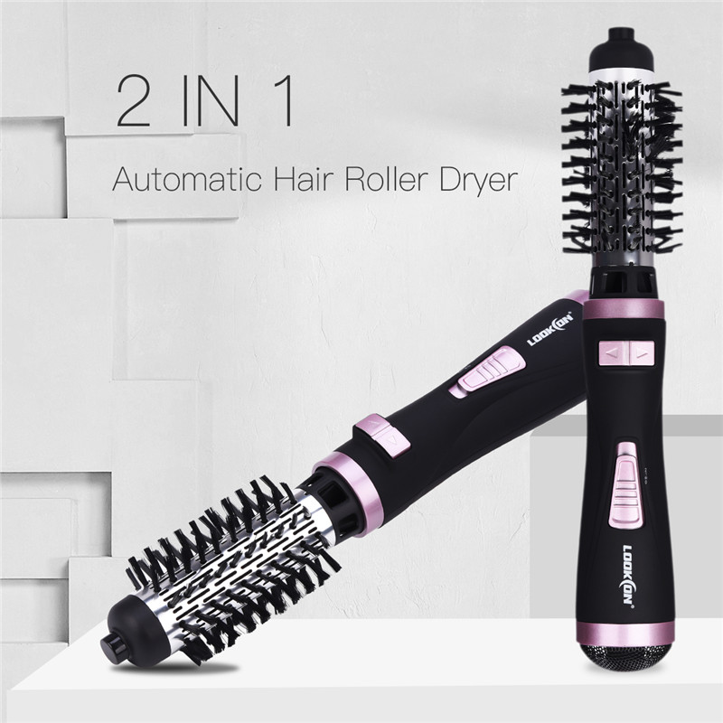 2 in 1 Multifunctional Hair Dryer Brush Automatic Rotating Hair Comb Curling Styling Tools Salon Blow