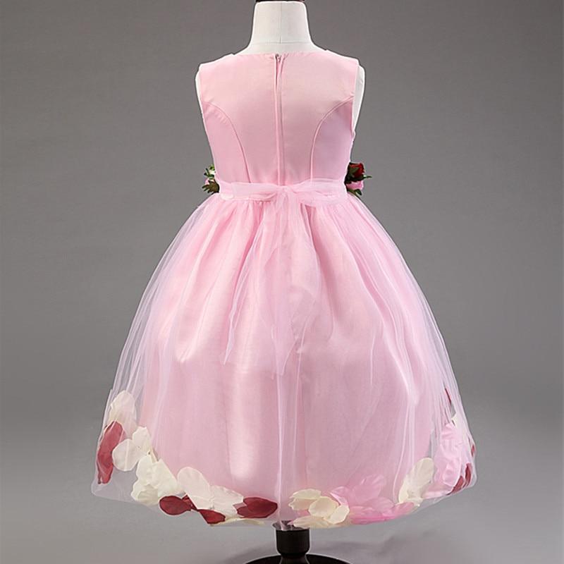Vestido de niña de flores Fiesta de cumpleaños Vestidos de princesa - Ropa de ninos - foto 5