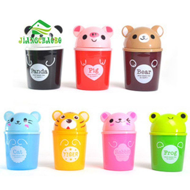 Mini Bucket Bucket Kartun Cute Trash Barrel Creative Desktop Storage - Organisasi dan penyimpanan di dalam rumah - Foto 6