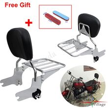 Detachable Motorcycle Rear Backrest Sissy Bar Adjustable Luggage Rack For Harley Touring Road King Street Glide FLHT FLHX