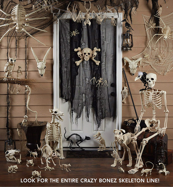 High Qualtity Skeleton Cat Kitty Skeleton Animal Bones for Horror Halloween Party Home Decor Decoration Accessories Decoration 1
