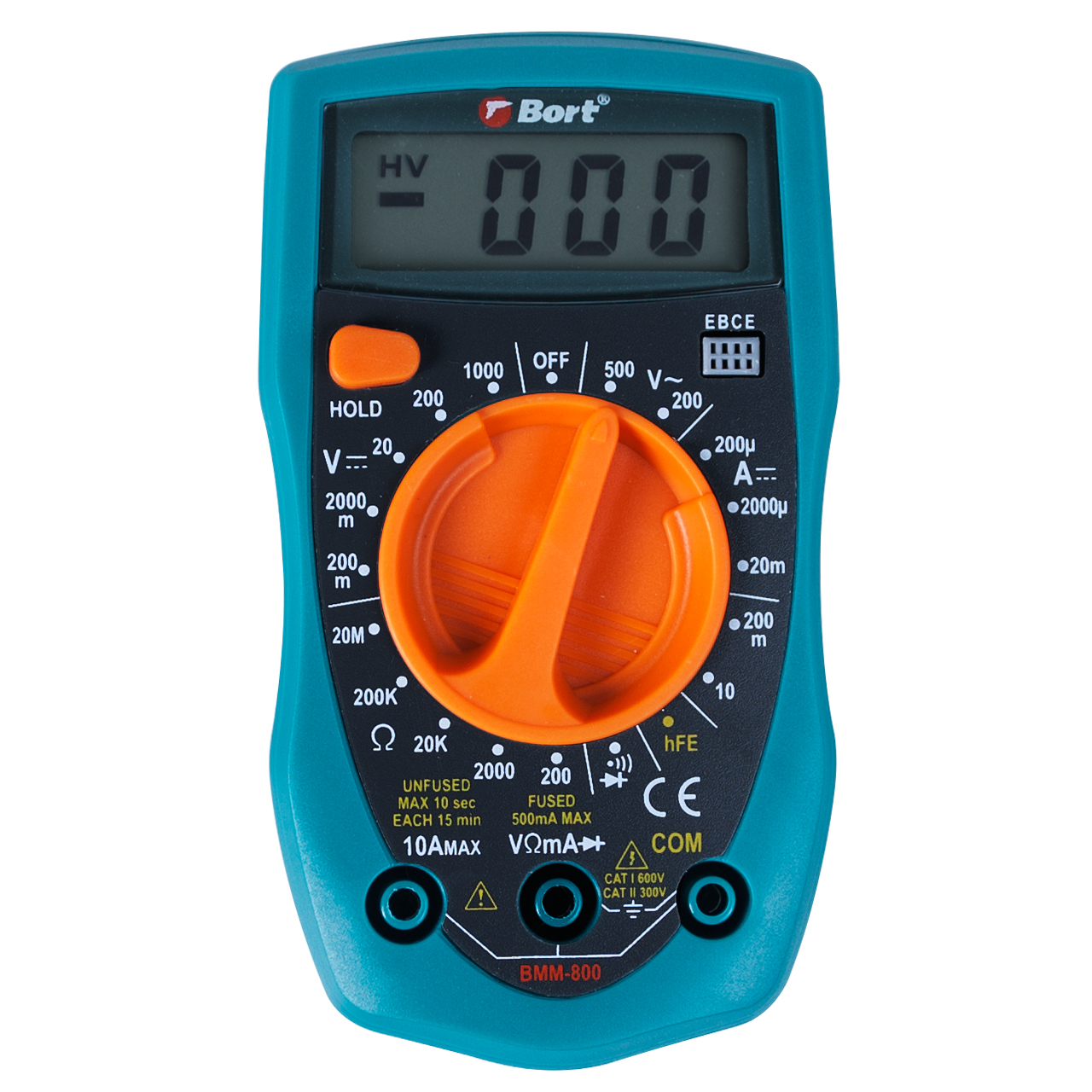 Bort AC DC LCD Digital Auto Multimeter Voltmeter Multimetro Ammeter Ohm Tester High Meter Safety Handheld Overload Protection BMM-800