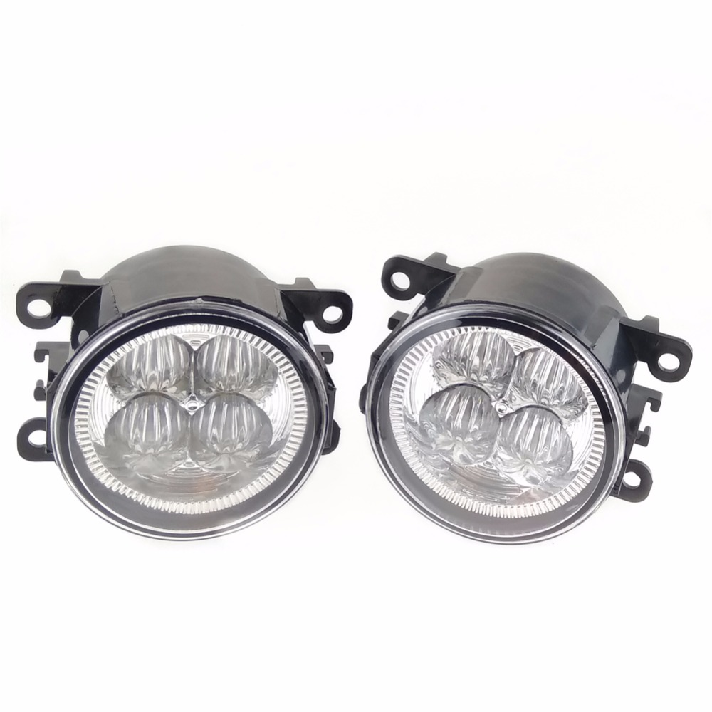 For Peugeot 207 307 407 607 3008 SW CC VAN 2000-2013 Car styling LED set fog lights 10W High power lens fog lamps front fog lights for peugeot 207 307 407 607 3008 sw auto right left lamp car styling h11 halogen light 12v 55w bulb assembly