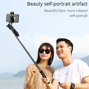 Image 5 - Video Stabilizer Selfie Stick Tripod for iPhone Xiaomi Huawei Gimbal Bluetooth Tripod Selfie Stick Fill Light For Mobile Phone