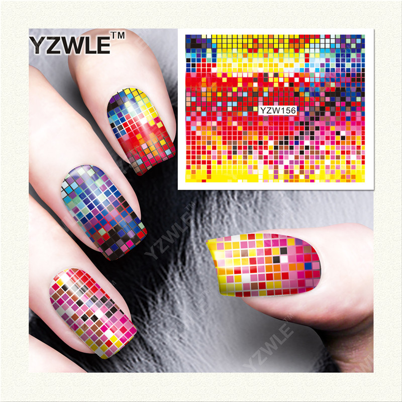 YWK  1 Sheet DIY Designer Water Transfer Nails Art Sticker / Nail Water Decals / Nail Stickers Accessories (YZW-156) f lashes 50pcs set starry sky star nail sticker art nail gel water transfer stickers decals tip decoration diy nails accessories