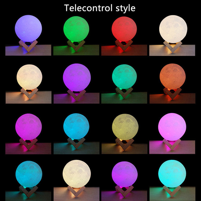 3D colorful Night Moon Lamp