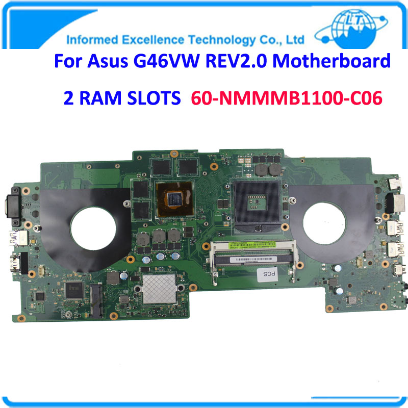 Laptop Motherboard Intel Mainboard G46VW REV2.0 2 RAM Slots 60-NMMMB1100-C06 100%Tested Well NVIDIA N13E-GE-A2 desktop motherboard for z87h3 lm mainboard intel z87 socket 1150 well tested working