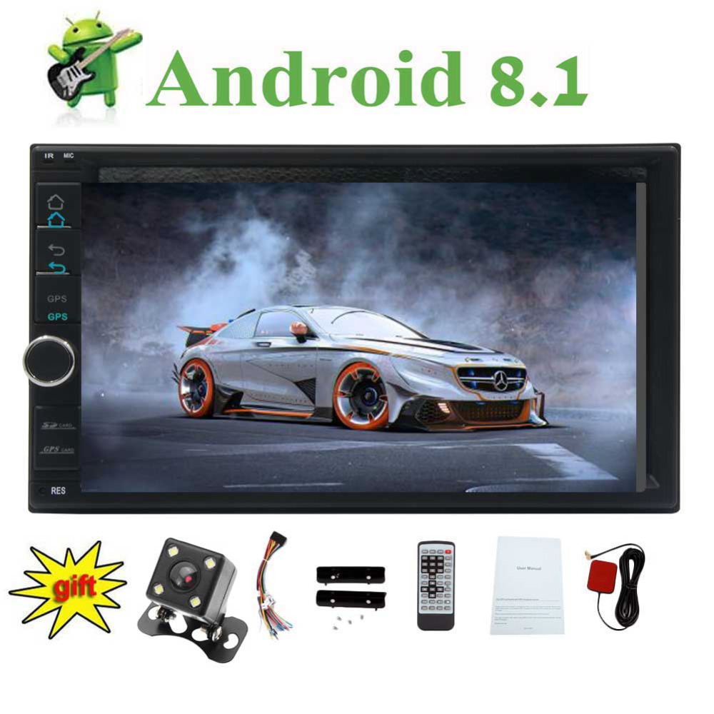 Android 8.1 Oreo Octa Core 7 touch screen Car video Player In Dash 2 Din Stereo GPS Navigation with Built in Bluetooth 2GB RAM