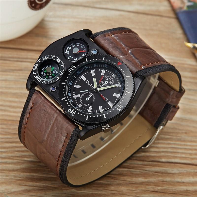 Oulm Reloj de pulsera deportivo Hombres Reloj militar de cuarzo de - Relojes para hombres - foto 2