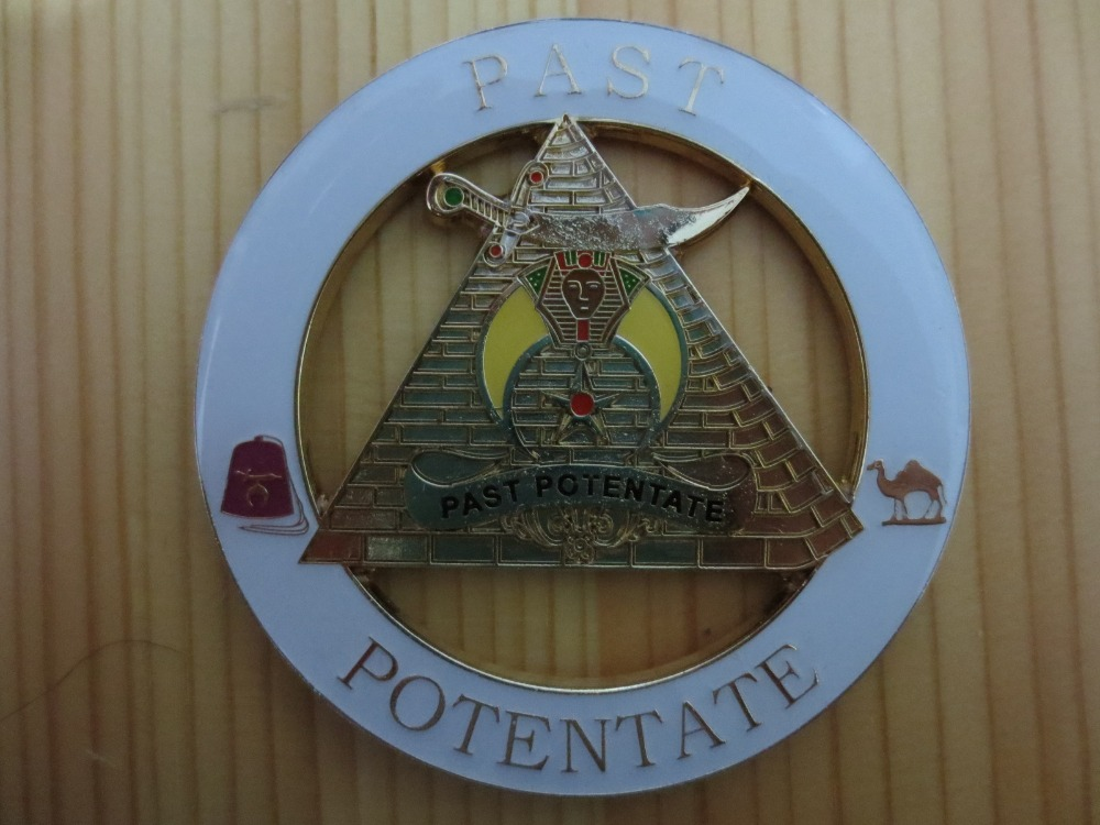 Galleria fotografica Masonic Car Badge Emblem Mason Freeman N15 PAST POTENTATE