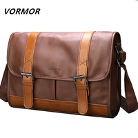 VORMOR New PU Leather Crossbody Bags for Men Water Repellent Messengers Bag Business Casual Shoulder Bags