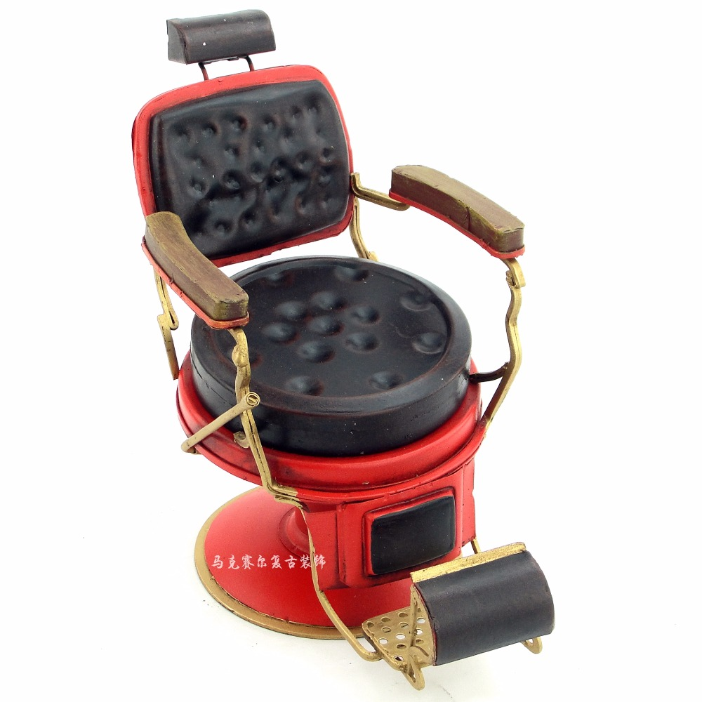 iron retro model decorations crafts creative barber chair decoration decoration of the micro metal