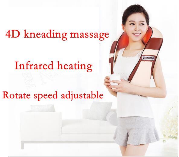 4D инфракрасный массажер замешивать u-образный электрические шиацу сзади шеи, плеч массажер для тела массажные шейки устройство