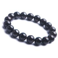 Genuine Natural Sugilite Round Crystal Purple Stone Beads Women Lady Charm Stretch Bracelet 12mm