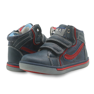 Image 3 - Apakowa Kids Shoes Boys Spring Fall Fashion High top Pu Leather Outdoor Sport Boots Childrens Comfortable Ankle Boots Eur 21 26
