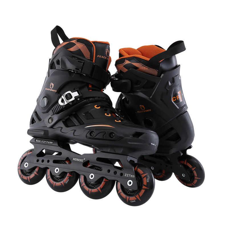 2018 Новый профессиональный ролик роликовые скейтборды для взрослых Обувь для роликов, скейтборда высокого качества Бесплатные стильные ролики хоккейные коньки