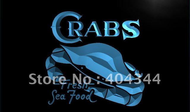 LK655- Crabs Fresh Seafood Restaurant LED Neon Light Sign