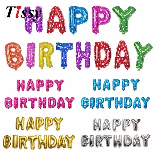 1 Satz 16 Inch Happy Birthday Balloons Buchstaben Alphabet Air Folienballon Party Ballons Startseite Geburtstag