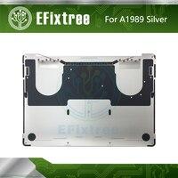 Original novo a1989 inferior inferior caso bateria habitação capa traseira para macbook pro 13 mid mid meados de 2018 prata emc 3214 613-06940-09