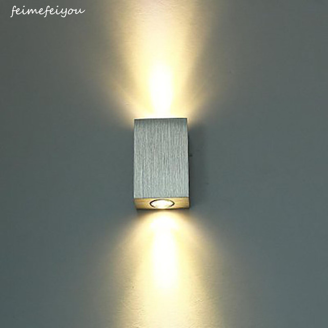 Feimefeiyou Simple And Creative Led Square Aluminum Wall Lamp Bedroom Bedside Staircase Corridor Up
