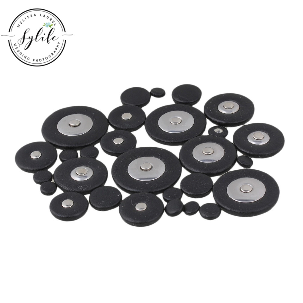 28pcs Black Woodwind Leather Pads For Soprano Saxophone