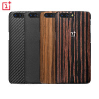 100 Original Oneplus 5 Cover Case Sandstone Black Kevlar Rosewood Back Cover Case Shell For OnePlus