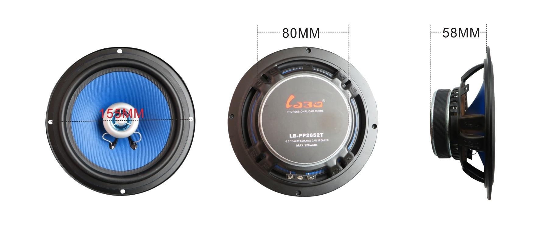 2017 auto Koaxial Horn Subwoofer 6,5 Zoll Auto Audio Lautsprecher ...
