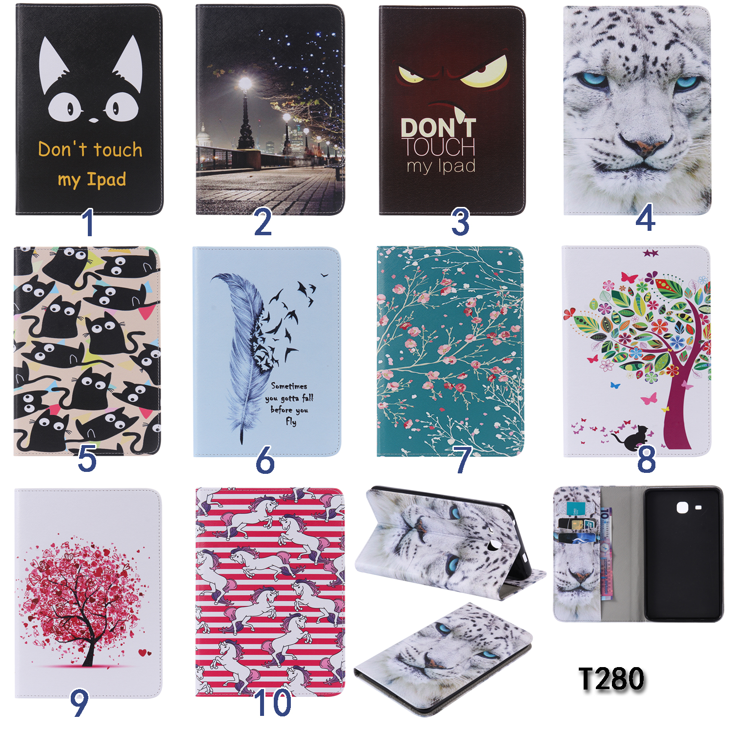 For Samsung Galaxy Tab A 7.0 SM-T280 SM-T285 cartoon pu Leather cover case for Samsung Galaxy Tab A 7.0 T280 T285 Tablet cases аксессуар чехол it baggage for samsung galaxy tab a 7 sm t285 sm t280 иск кожа white itssgta70 0