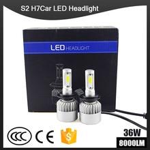 1pairs Auto Car H8 H3 H11 H7 H4 H1 LED Headlights 6500K Cool white 72W 8000LM