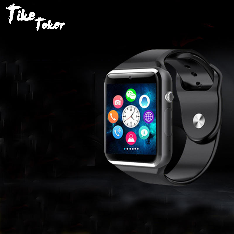 TIke Toker Bluetooth Smart Watch With Camera Facebook Whatsapp Twitter Sync SMS Smartwatch Support SIM TF Card For IOS Androd lemfo lf07 bluetooth smart watch sync notifier support sim card sport smartwatch for apple iphone androd ios xiaomi
