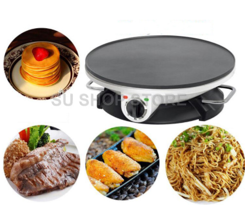 220V Automatic Household Electric Breakfast Maker Machine Non-stick Multifunctional Electric Crepe Pancake Baking Pan EU/AU/UK