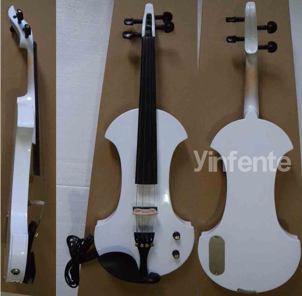 Electro-acoustic violin professional handmade new solid maple wood brown acoustic violin violino 4 4 electric violin case bow included